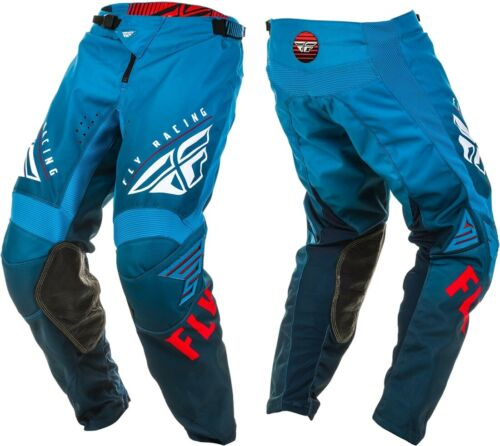 2020 Fly Racing Kinetic K220 Motocross MX Race Pants Blue White Red Youth Kids