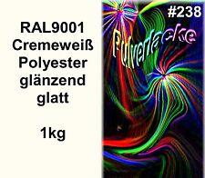PULVERLACK 1kg Beschichtungspulver RAL9001 Pulverbeschichtung Lackpulver creme