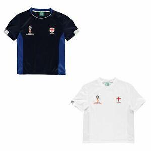 FIFA Coupe du monde 2018 Angleterre T-Shirt Juniors FOOTBALL SOCCER top tee shirt