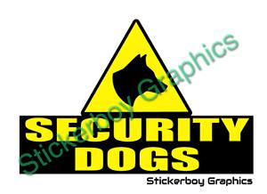 SECURITY DOGS Sticker Head K9 Unit DOG SECURITY SIA PATROL 400mm x1