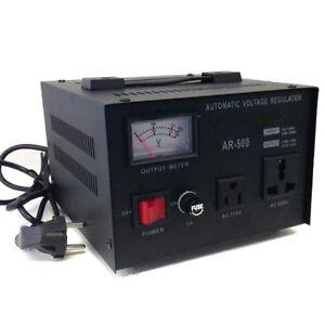 convertisseur de tension transformateur step up down 500 w r gulateur stabilisateur 230 v 120 v