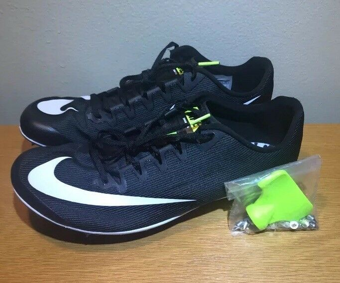 NEW Nike Zoom 400 Track and Field Spikes Men's Black White Size 10.5 AA1205-001