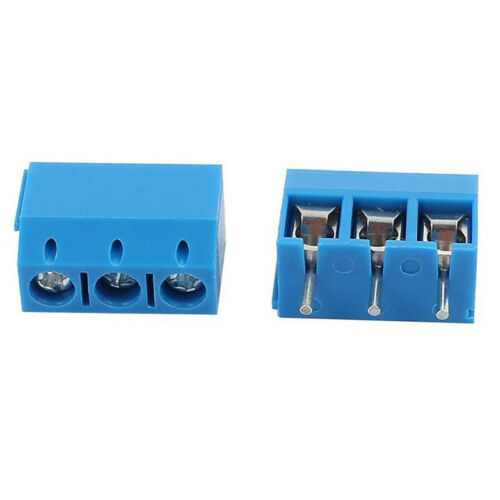 100pcs KF301-3P Straight 3 Pin PCB Screw Terminal Block Connector Splice Kit