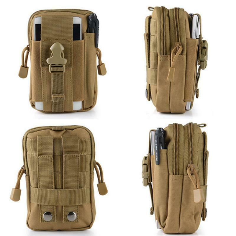 Outdoor Tactical Molle Pouch Belt Waist Fanny Pack Bag Military Phone Pocket