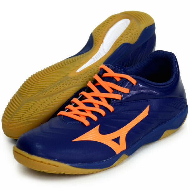 Mizuno JAPAN REBULA SALA Indoor Soccer Football Futsal schuhe Q1GA1941 Navy