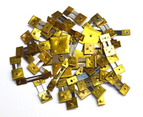 10 x Brass Mixed Blocked Assorted Clock Pendulum Suspension Springs mh457