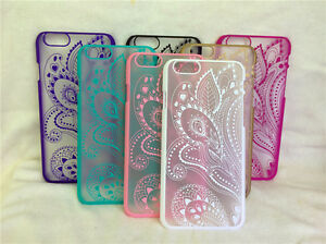 For Apple iPhone6S 5.5HollowCarved Pattern Rubber Hybrid Hard Back Case Cover gm