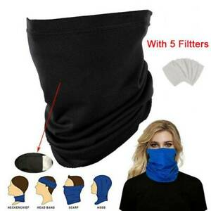 Cooling-Neck-Gaiter-Bandana-Headband-Face-Shield-Cover-Snood-Scarve-amp-5-Filtters