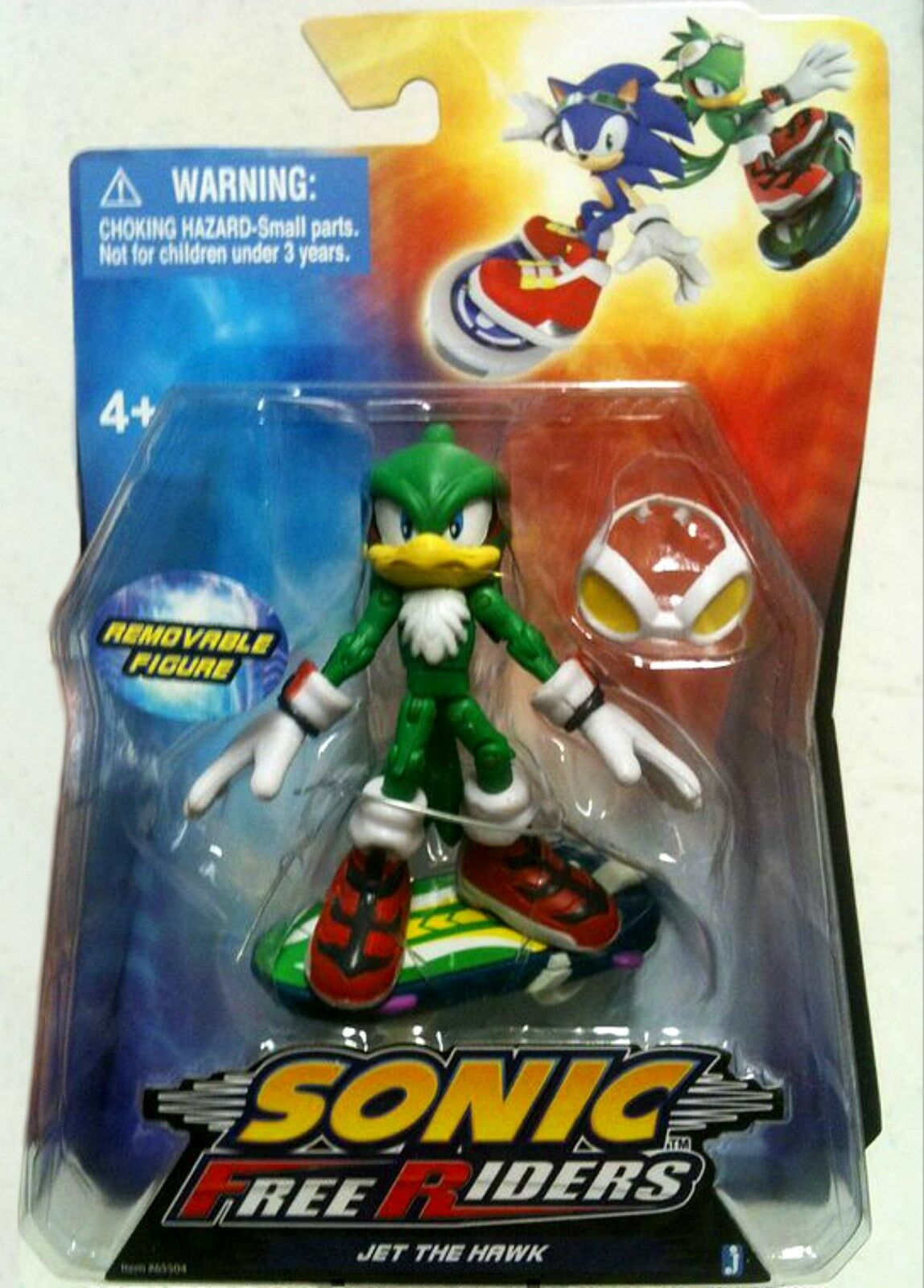 Sonic the Hedgehog 3.5  Jet The Hawk Free Riders figure Factory Seal New crease
