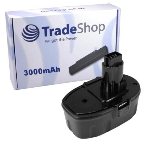 Trade-Shop Hochleistungs Akku für Dewalt DE9096 ELU NiMH 18V 3000mAh