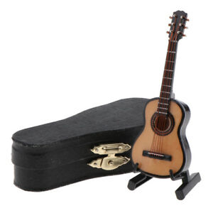 1-12-Wooden-Guitar-Miniature-Musical-Instrument-Dollhouse-with-Carry-Case