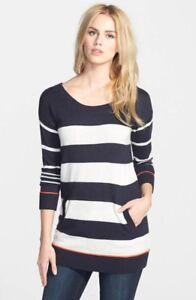 NWT-Splendid-Wool-Cashmere-Blend-Striped-Pullover-M