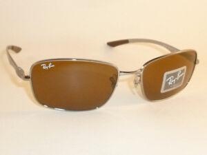 6d2288e06f5 New RAY BAN Sunglasses TECH Gunmetal Frame RB 8308 004 Glass Brown ...
