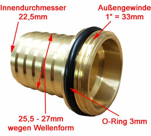 """1/"""" Schlauchtülle mit 1/"""" AG ✅ Schlauchstutzen Saugschlauch Messing Tülle GEKA"""
