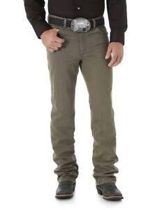 WRANGLER-Men-039-s-Premium-Slim-Fit-Cowboy-Cut-Khaki-Boot-Cut-Jeans-36MWZDR-NWT
