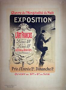 Jules Cheret: Aperitivos DE Hospitalidad - Litografía Original, Firmada 1898
