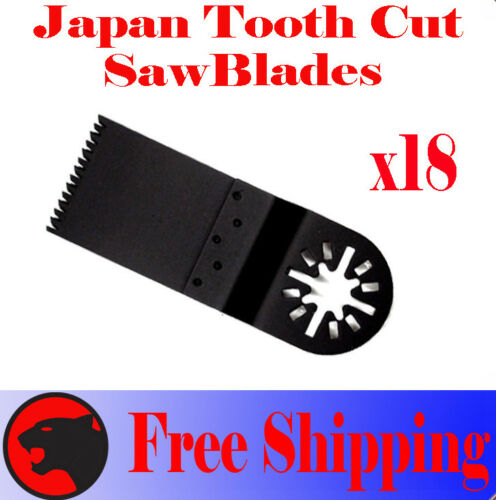 18 Japan Tooth Oscillating MultiTool Saw Blades For Dremel Ridgid Craftsmsn Fein