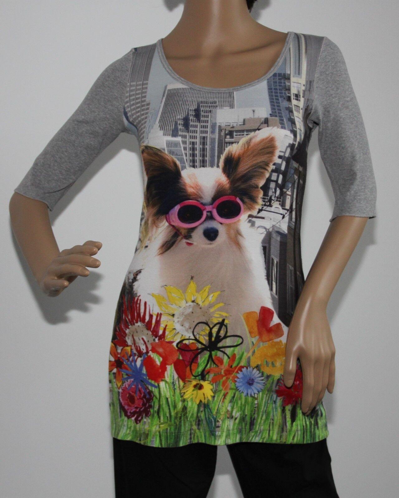 Marc Cain Shirt mit witzigem Hundemotiv Größe N2   36 Neuwertig