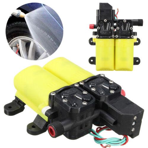 12V 80W High Pressure Auto Diaphragm Water Pump 6 L//min For Marine Boat Caravan
