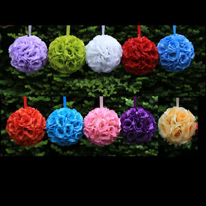 9 kissing ball rose flowers pomander pew bow wedding decorations image is loading 9 034 kissing ball rose flowers pomander pew junglespirit Images