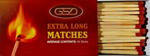 Fires 2 Boxes Of GSD Extra Long Matches Ideal For BBQ Candles