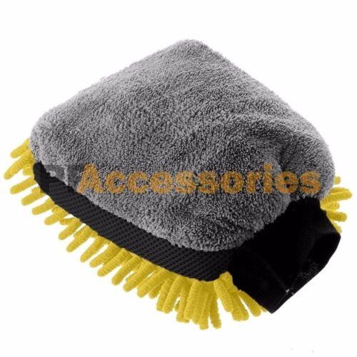 Premium 2in1 Dual Side Jumbo Microfiber Chenille Sponges Mitt Car Washing Glove