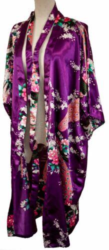 Kimono robe long 16 colors Premium Peacock bridesmaid bridal shower women