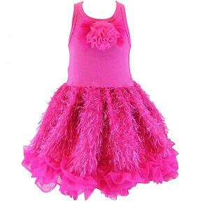 Posh-Sparkly-Fuchsia-Eyelash-Chiffon-Pink-Tutu-Dress-6M-5-6-USA-Cupcakes-Kisses