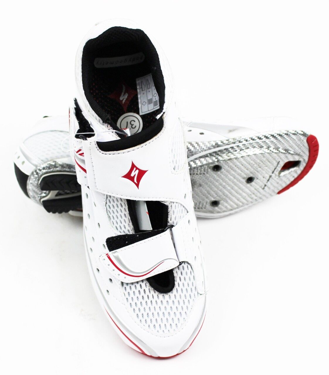 SPECIALIZED Trivent Expert Woman's Road Cycling shoes 42 EU   10.5 US White Red