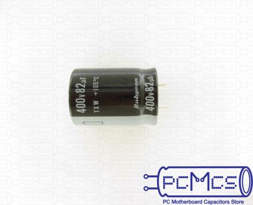 2 Pcs Rubycon TXW 400V 82UF Long Life 7000~10000 hours Miniaturized Capacitor