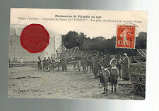 1913 Picardie France Early airmail Postcard cover Local Issue Air Stamp Aviation
