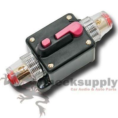 INLINE 150 AMP CIRCUIT BREAKER MANUAL RESET 12V 150A 4 6 8 AWG GAUGE  US SELLER