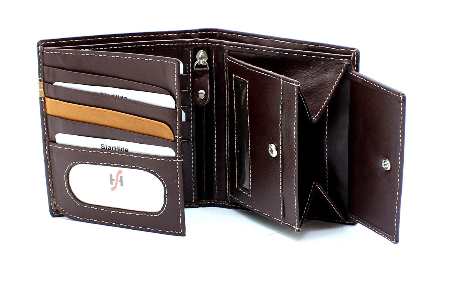 Unisex Large Capacity Leather Wallet