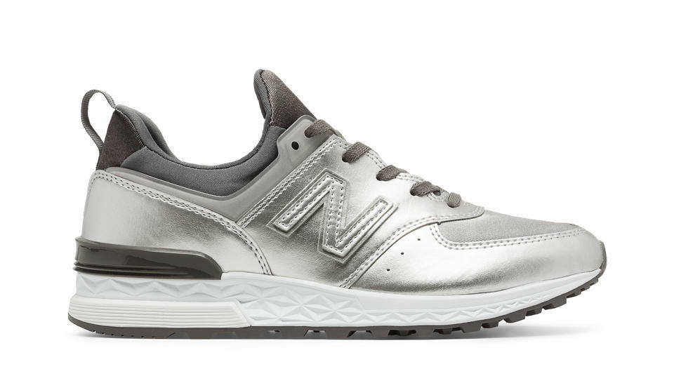 NEW BALANCE WOMEN SPORT REMIXES WS574SFG WS574SFG WS574SFG 574 SILVER Lifestyles Sneakers 6-10 84cf47