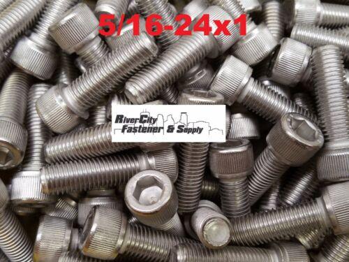 5//16-24x1 Socket Allen Head Cap Screw Stainless Steel Fine Thread 5//16x24x1 10
