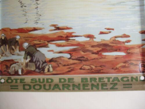 plaque métallique côte sud DOUARNENEZ éditions Clouet à fixer mur porte int ext