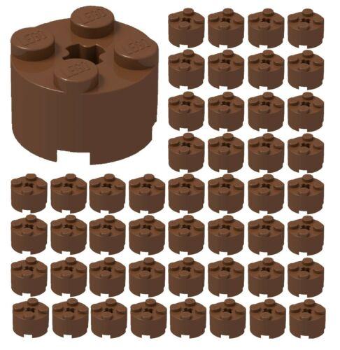 BULK Parts ID 3941 ☀️50x NEW LEGO 2x2 REDDISH BROWN ROUND Bricks