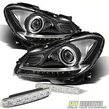 For (Halogen) 12-14 Mercedes Benz W204 C63 Amg European Headlight+Smd Bumper Fog
