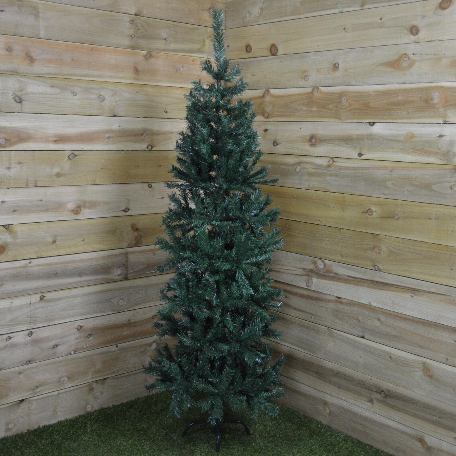 240cm (8ft) Premier Slim Christmas Pine Tree in Green 91cm Wide