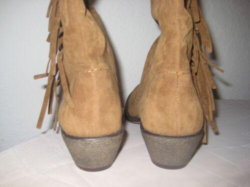 Chestnut Stivali Womens 8 ginocchio Shoes Girl M Mcody New Size Material al xa48wqn