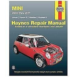 haynes repair manual mini 2002 thru 2011 by haynes manuals inc rh ebay com Pioneer Car Stereo to Subaru Sony Car Audio Manual