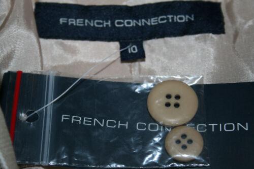 lin Uk10 Veste us6 coton Nouveau à rayures rayures eu38 Stone French Connection en à 5nqwICz1