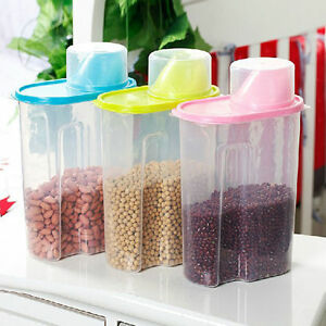 25L Large Dry Food Storage Container Scoop Plastic Cereal Pet Dog