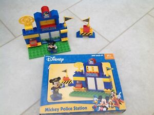 Amical Disney Mickey Police Station Building Bricks, 3+ Ans-afficher Le Titre D'origine Doux Et Doux