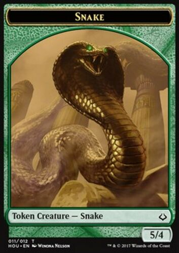 MRM FRENCH Token Serpent 5//4 MTG HOU Jeton Snake