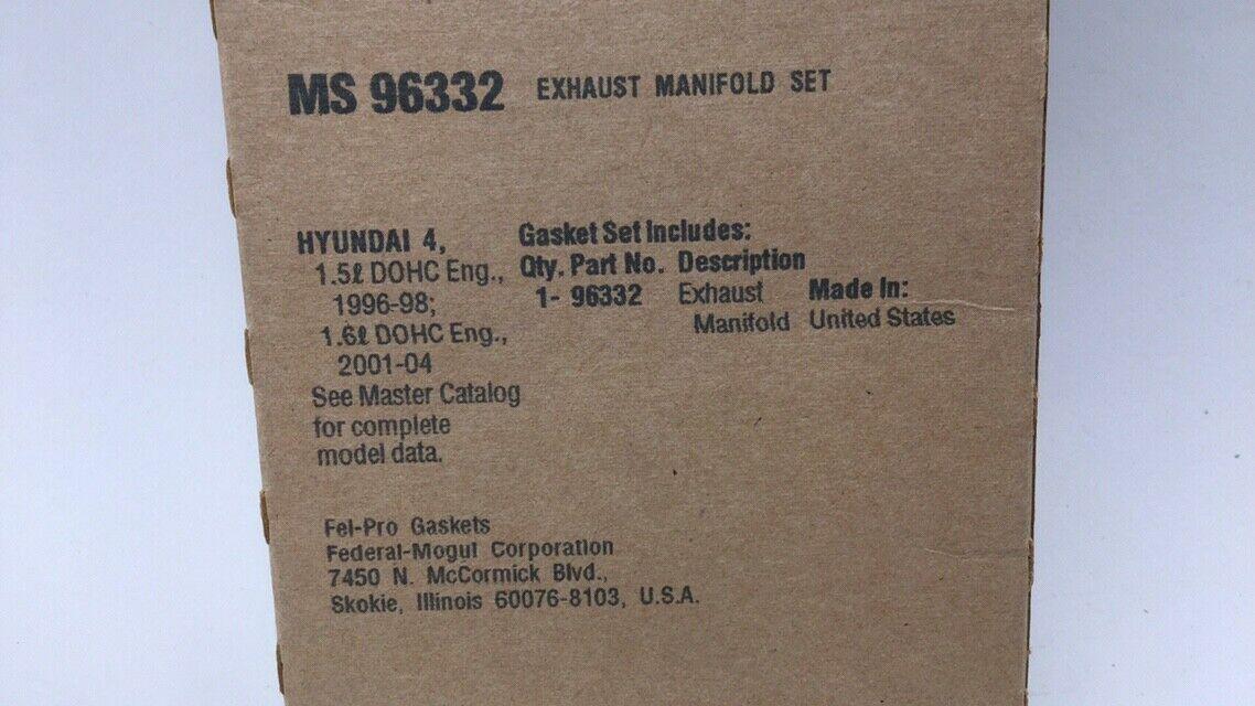 Exhaust Manifold Gasket Set Fel-Pro MS 96332