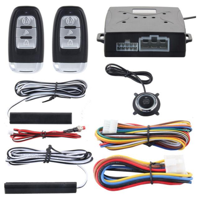 PKE SUV Alarm System Passive Keyless Entry Push Button Remote Engine Start//Stop