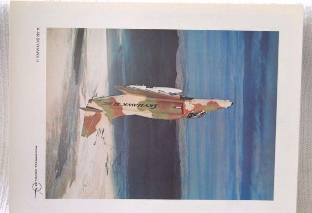 McDonnell Douglas A-4N Skyhawk II. Public Relations Print. Original. US Navy