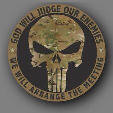 """Punisher Military Multicam Die Cut Decal Sticker Car Truck 4"""""""