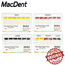 1 Box Dental Gutta Percha Points Absorbent Paper Points Tips Macdent